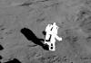 LEGO Minifigure on the moon